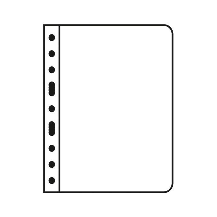 Vario Album Page Single Pocket Black Background