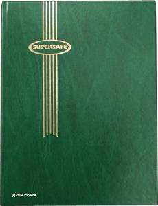 Supersafe Stamp Stockbook - 32 White Pages Green Cover