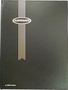 Supersafe Stamp Stockbook - 16 Black Pages Black Cover