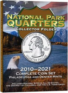 HE Harris National Park Quarters Folder P&D Mint Marks