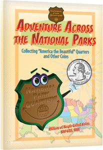 Adventure Across the National Parks Quarters Book coin collecting book, coin collecting for kids, america the beautiful, national park quarters