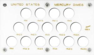 Mercury Dimes Capital Plastics Coin Holder White 3.5x6 Mercury Dimes Capital Plastics Coin Holder White, Capital, 436A