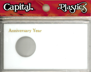 Anniversary Silver Eagle Capital Plastics Coin Holder White Meteor Anniversary Silver Eagle Capital Plastics Coin Holder White, Capital, MA32XAY