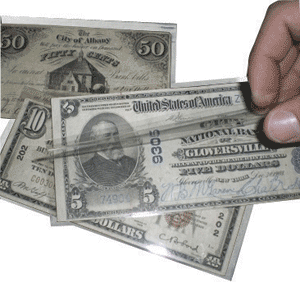 Supersafe MG450 Museum Quality Large Note Currency Holder - 100 pack 3 1/2x8