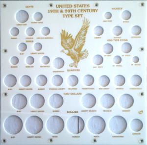 19th & 20th Century Type Set Capital Plastics Coin Holder White 12x12 19th & 20th Century Type Set Capital Plastics Coin Holder White, Capital, 407