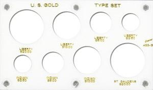 Gold Type Set Lib. 20, 10, 5, 2.50 3.5x6 Gold Type Set Lib. 20, 10, 5, 2.50, Capital, 433G