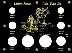 U.S. Gold Type Set  6x8 U.S. Gold Type Set , Capital, 450G