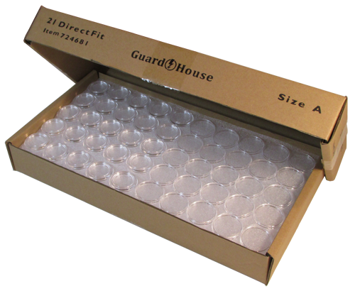 Guardhouse Nickel Size Coin Capsule 250 Piece Bulk Pack