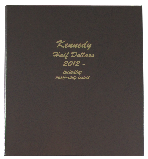 Kennedy Half Dollars with Proofs 2012 to 2016 - Dansco Coin Album 8167