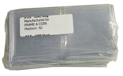 2.5x2.5 Frame A Coin #15 Vinyl Coin Flips 100 Pack 2.5x2.5