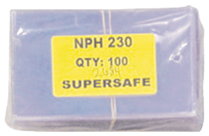 Supersafe NPH230 Fractional Note Currency Sleeves - 100 pack 3 1/8 x 5 1/4
