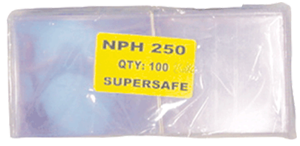 Supersafe NPH250 Large Note Currency Sleeves 100 pack3 1/2x8