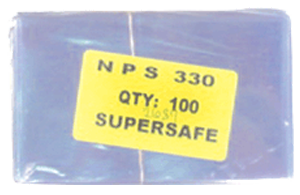 Supersafe NPS330 Fractional Note Currency Sleeves - 100 pack 3 1/8x5 1/4