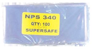 Supersafe NPS340 Modern Note Currency Sleeves - 100 Pack 3x6 1/2 Supersafe NPS340 Modern Currency Sleeves 100 pack, Supersafe, NPS340
