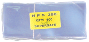Supersafe NPS350 Large Note Currency Sleeves - 100 pack 3 1/2x8