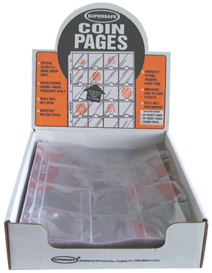Supersafe 12 Pocket Pages - Box 100 12 Pocket Pages, Supersafe, NV12