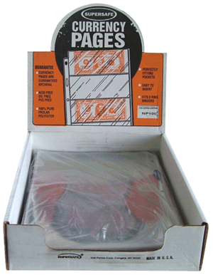Supersafe 1 Pocket Pages - Box 100 1 Pocket Pages , Supersafe, NP100