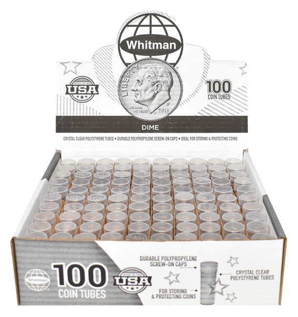 Dime Round Coin Tube HE Harris 100 Pack Dime - 5776