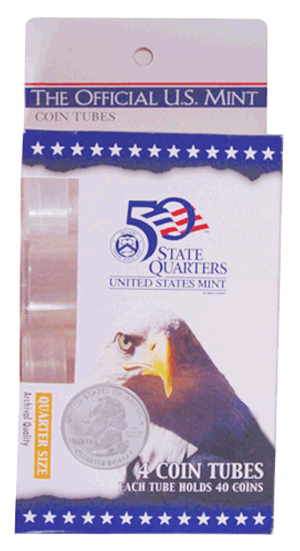 HE Harris & Co Quarter Round Coin Tubes - 5 Pack