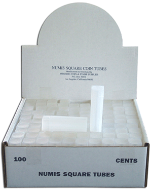 Cent Square Coin Tube Numis 100 Pack Cent - 5928