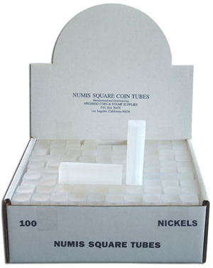 Nickel Square Coin Tube Numis 100 Pack Nickel - 5936