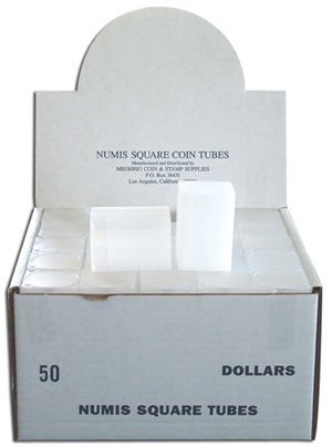 Numis Large Dollar Square Coin Tubes