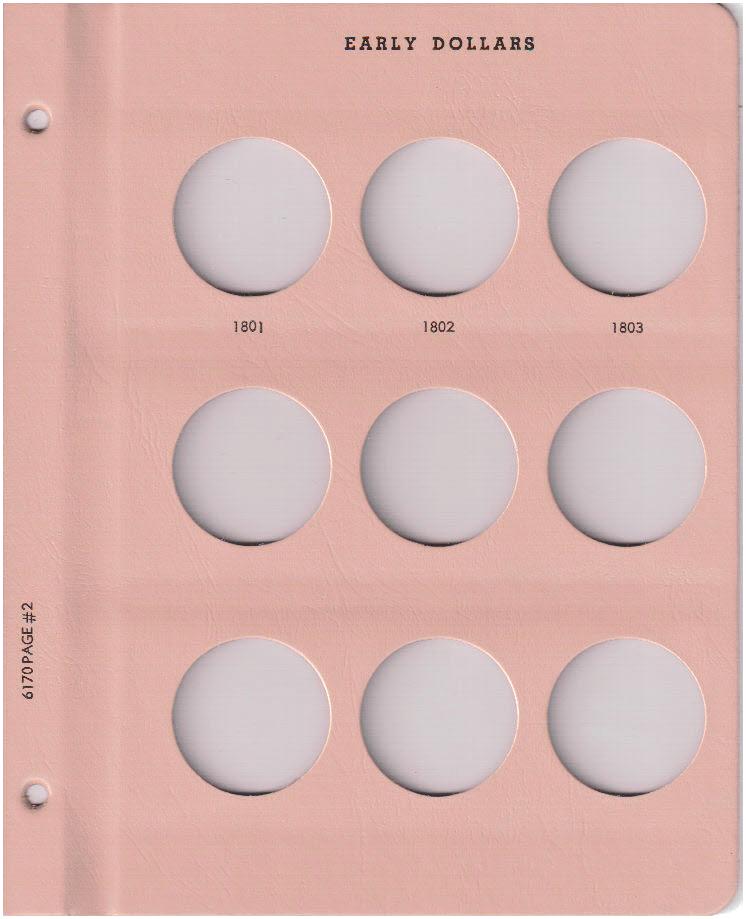 Early Dollars - Dansco Coin Album 6170 - 23536