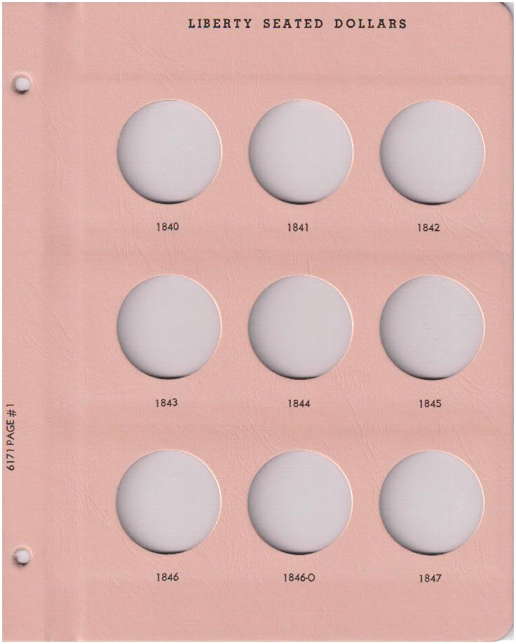 Liberty Seated Dollars - Dansco Coin Album 6171 - 23544