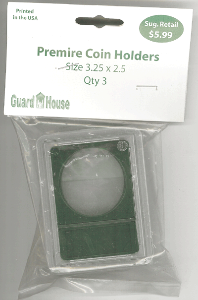 40.1 mm Premier Coin Slab 3.25 x 2.5 Inch GOLD & BULLION 40.6 mm Premier Coin Slab 3.25 x 2.5 Inch, Guardhouse, CH20