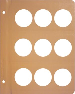 Dansco 43.25 mm Blank Coin Album Page 43.25 mm Blank Dansco Coin Album Page, Dansco,