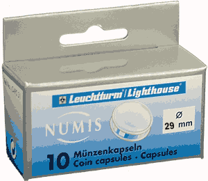 29mm - Coin Capsules  29mm 29mm - Coin Capsules , Lighthouse, CAPS29
