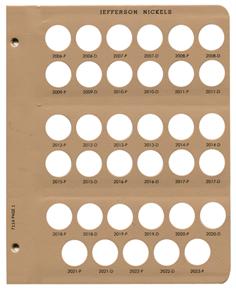Dansco 7114  Coin Album Jefferson Nickels