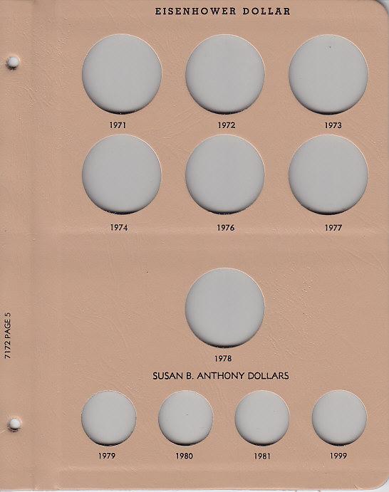 Silver Dollar - Dansco Coin Album 7172 - 23576