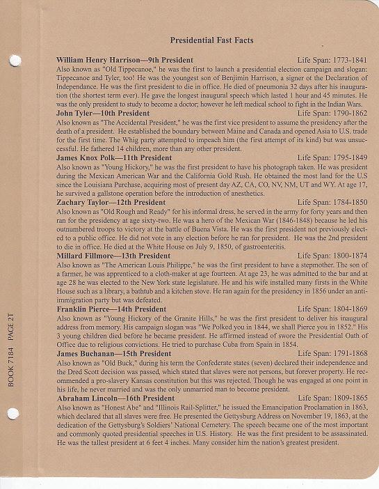 Presidential Dollars P&D - Dansco Coin Album 7184 - 22616