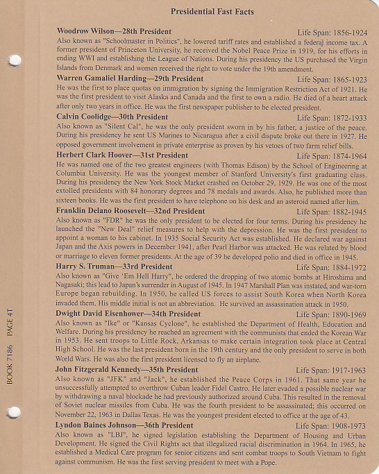 Presidential Dollars Single Mint Mark - Dansco Coin Album 7186 - 22624