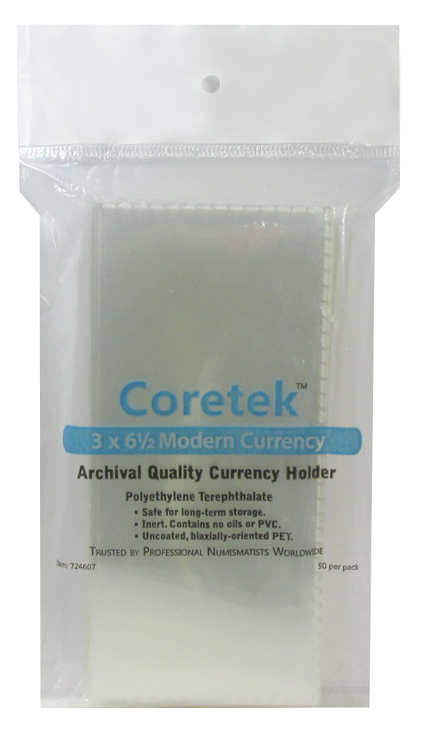 Coretek Medium Currency Holder 6 1/2 x 3  - 50 pack