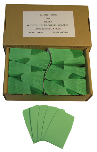 Green Guardhouse 2x2 Paper Envelope for Coin Storage