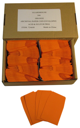 Orange Guardhouse 2x2 Paper Envelope for Coin Storage