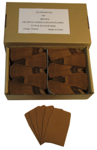 Brown Guardhouse 2x2 Paper Envelope for Coin Storage
