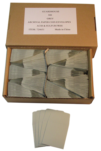 Gray Guardhouse 2x2 Paper Envelope for Coin Storage