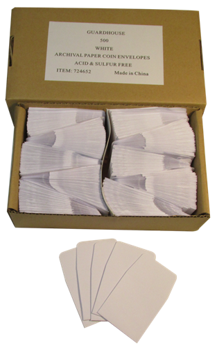 White Guardhouse 2x2 Paper Envelope for Coin Storage