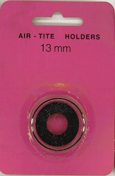 Air-Tite 13 mm Ring Fit Coin Capsule - Black