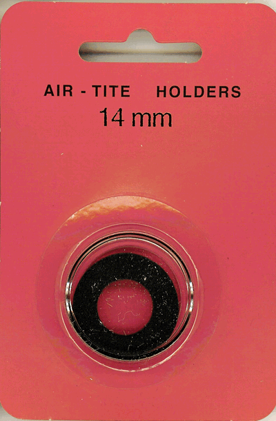14mm Ring Fit Air Tite Coin Capsule - Black 14mm Ring Fit Air Tite Coin Capsule Black, Air Tite, Model A