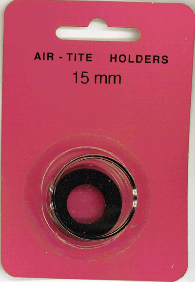 Air-Tite 15 mm Ring Fit Coin Capsule - Black