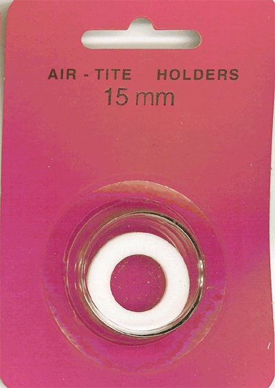 Air-Tite 15 mm Ring Fit Coin Capsule - White