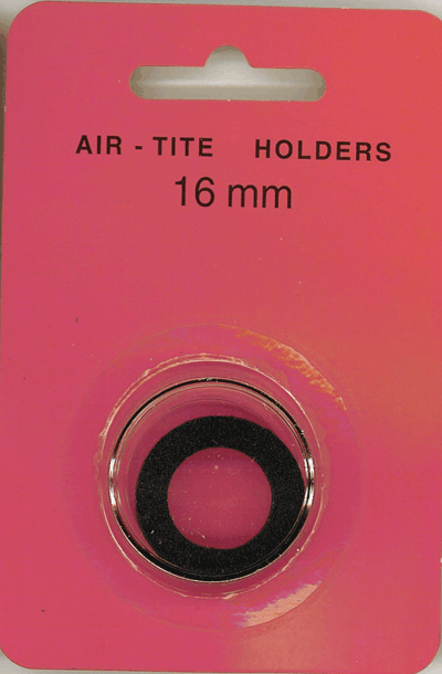 Air-Tite 16 mm Ring Fit Coin Capsule - Black