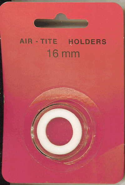 Air-Tite 16 mm Ring Fit Coin Capsule - White