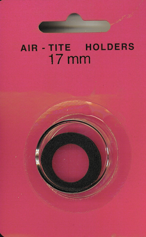 Air-Tite 17 mm Ring Fit Coin Capsule - Black