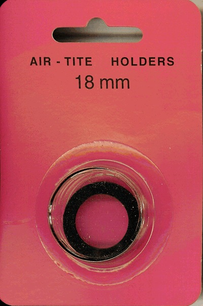 Air-Tite 18 mm Ring Fit Coin Capsule - Black