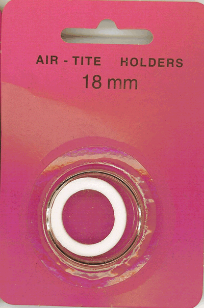 Air-Tite 18 mm Ring Fit Coin Capsule - White